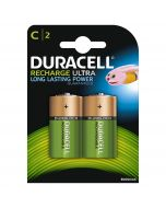 Duracell Recharge Ultra C HR14 3000mAh Rechargeable Batteries | 2 Pack
