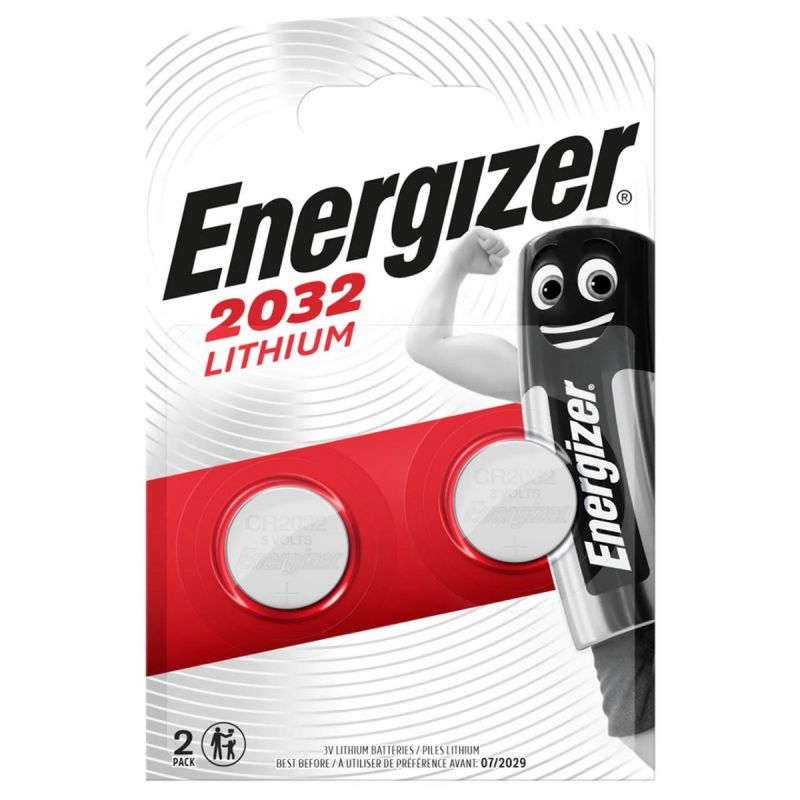 ENG2032B2 CR2032 Coin Lithium Battery Pack of 2 Batteries