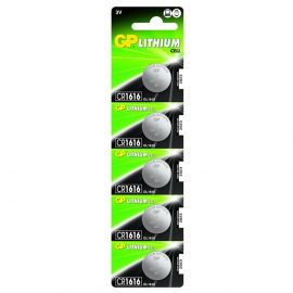 GP CR1616 Coin Cell Batteries | 5 Pack