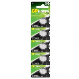 GP CR2025 Coin Cell Batteries | 5 Pack