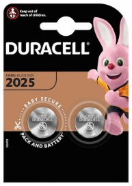 Duracell CR2025 DL2025 Coin Cell Lithium Batteries | 2 Pack