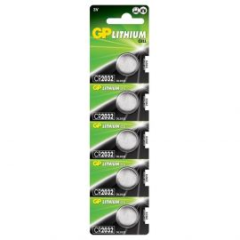 GP CR2032 Coin Cell Batteries | 5 Pack