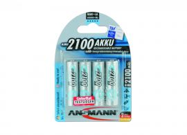 Ansmann Max-E AA HR6 2100mAh Pre-Charged Rechargeable Batteries | 4 Pack
