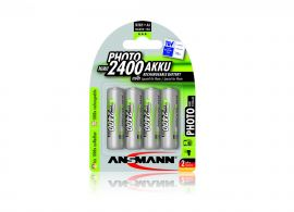 Ansmann Photo AA HR6 2400mAh Rechargeable Batteries | 4 Pack