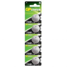 GP CR2430 Coin Cell Batteries | 5 Pack