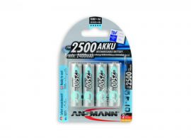 Ansmann Max-E AA HR6 2500mAh Pre-Charged Rechargeable Batteries | 4 Pack