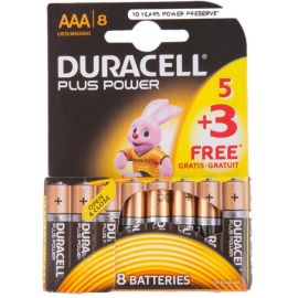 Duracell Plus Power AAA LR03 Batteries | 8 Pack