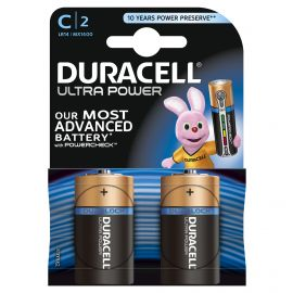 Duracell Ultra Power C LR14 Batteries | 2 Pack