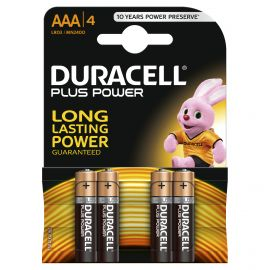 Duracell Plus Power AAA LR03 Batteries | 4 Pack