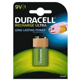 Duracell Recharge Ultra 9V PP3 HR22 170mAh Rechargeable Batteries | 1 Pack