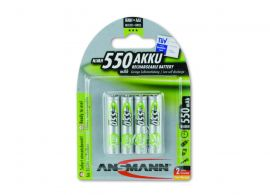 Ansmann Max-E AAA HR03 550mAh Pre-Charged Rechargeable Batteries | 4 Pack