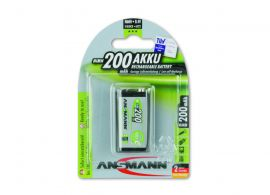 Ansmann Max-E 9V PP3 HR22 200mAh Pre-Charged Rechargeable Batteries | 1 Pack