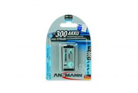 Ansmann Max-E 9V PP3 HR22 300mAh Pre-Charged Rechargeable Batteries | 1 Pack