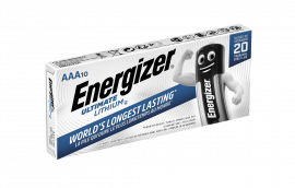 Energizer Ultimate Lithium AAA LR03 L92 Batteries | 10 Pack