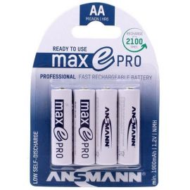 Ansmann Max-E Pro AA HR6 1900mAh Pre-Charged Rechargeable Batteries | 4 Pack