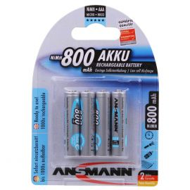 Ansmann Max-E AAA HR03 800mAh Pre-Charged Rechargeable Batteries | 4 Pack
