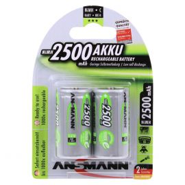 Ansmann Max-E C HR14 2500mAh Pre-Charged Rechargeable Batteries | 2 Pack