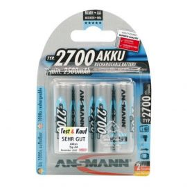 Ansmann High Capacity AA HR6 2700mAh Rechargeable Batteries | 4 Pack