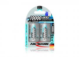 Ansmann High Capacity D HR20 10000mAh Pre-Charged Rechargeable Batteries | 2 Pack