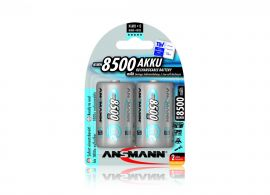 Ansmann Max-E D HR20 8500mAh Pre-Charged Rechargeable Batteries | 2 Pack