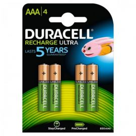 Duracell Recharge Ultra AAA HR03 900mAh Pre-Charged Rechargeable Batteries | 4 Pack