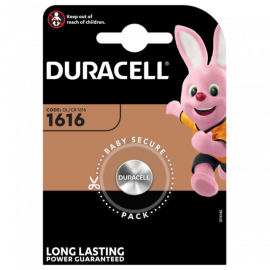 Duracell CR1616 DL1616 Coin Cell Lithium Batteries | 1 Pack
