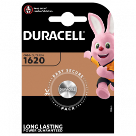 Duracell CR1620 DL1620 Coin Cell Lithium Battery | 1 Pack