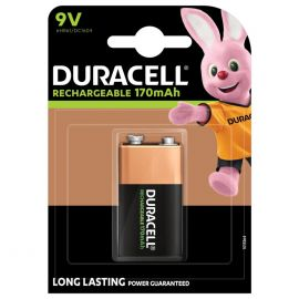 Duracell Rechargeable 9V PP3 HR22 170mAh Rechargeable Battery | 1 Pack