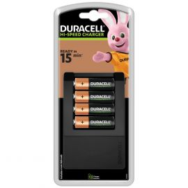 Duracell Hi-Speed Battery Charger CEF15 | inc 4 AA Batteries