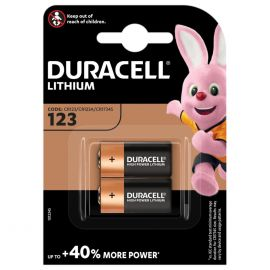 Duracell Lithium DL123 CR123A Batteries | 2 Pack