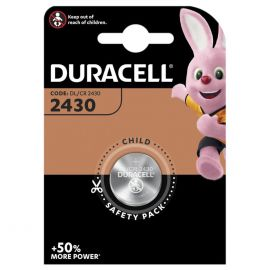 Duracell CR2430 DL2430 Coin Cell Lithium Battery | 1 Pack