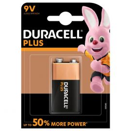 Duracell Plus 9V 6LR61 PP3 Battery | 1 Pack