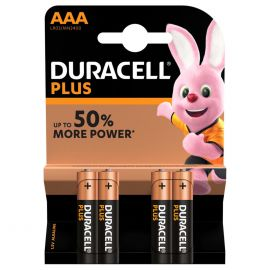 Duracell Plus AAA LR03 Batteries | 4 Pack