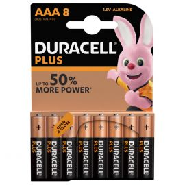 Duracell Plus AAA LR03 Batteries | 8 Pack