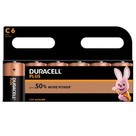 Duracell Plus C LR14 Batteries | 6 Pack