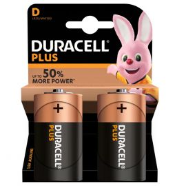Duracell Plus D LR20 Batteries | 2 Pack