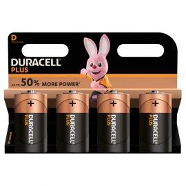 Duracell Plus D LR20 Batteries | 4 Pack