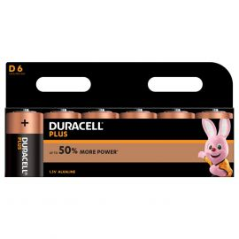 Duracell Plus D LR20 Batteries | 6 Pack