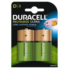 Duracell Recharge Ultra D HR20 3000mAh Rechargeable Batteries | 2 Pack