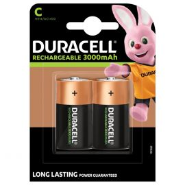 Duracell Rechargeable C HR14 3000mAh Rechargeable Batteries | 2 Pack