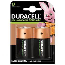 Duracell Rechargeable D HR20 3000mAh Rechargeable Batteries | 2 Pack