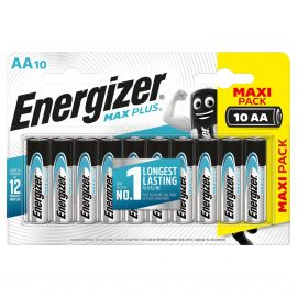 Energizer Max Plus AA LR6 Batteries | 10 Pack