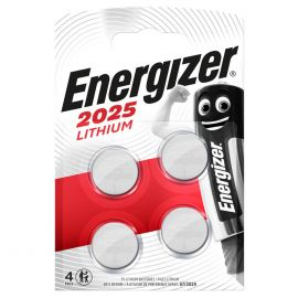 Energizer CR2025 Lithium Coin Cell Batteries | 4 Pack