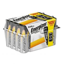 Energizer Alkaline Power AAA LR03 Batteries | 24 Bulk Pack Tub