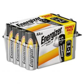 Energizer Alkaline Power AA LR6 Batteries | 24 Bulk Pack Tub