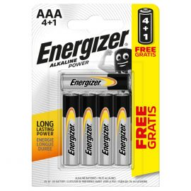 Energizer Alkaline Power AAA LR03 Batteries | 5 Pack | 4+1 Free