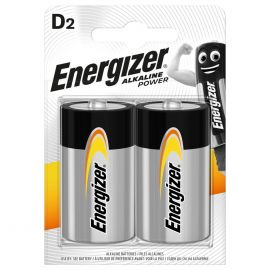Energizer Alkaline Power D LR20 Batteries | 2 Pack