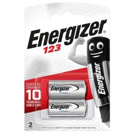 Energizer CR123A 123 3V Lithium Batteries | 2 Pack