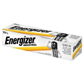 Energizer Industrial 9V PP3 6LR61 Batteries | 12 Pack
