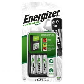 Energizer Maxi Charger | Inc 4 x AA 1300mAh Rechargeable Batteries